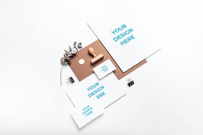 Branding with a stamp and paper clips
