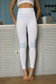 Woman wearing leggings in the kitchen